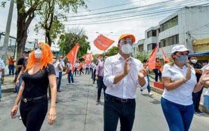 """Gobernador Caicedo marchó  en el Paro Nacional y le dijo """"No a la 'Pandemia' Tributaria"""""""