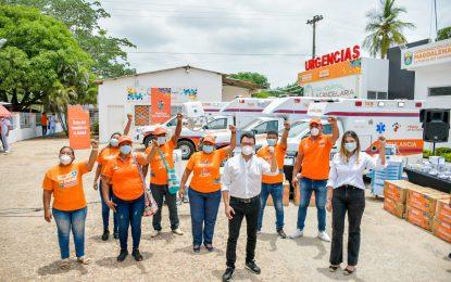 Con 4 nuevas ambulancias y  equipos biomédicos, Gobierno del Magdalena fortalece la atención hospitalaria El Banco y toda la subregión Sur