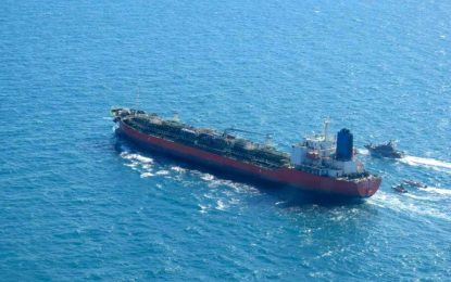 Irán liberó un barco petrolero surcoreano apresado en enero