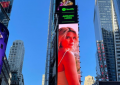 Adriana Lucía aparece en Times Square, en Nueva York, y genera polémica en redes