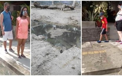 ¡Qué horror!: turistas sufren con aguas rebosadas en calles de El Rodadero