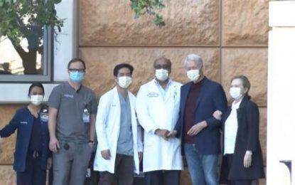 Bill Clinton recibió el alta hospitalaria tras recuperarse de su infección