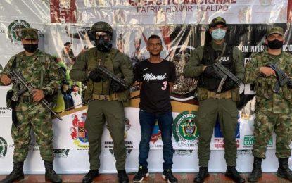 Capturan en Buritaca a alias 'El Titi', presunto integrante de 'Los Pachenca'